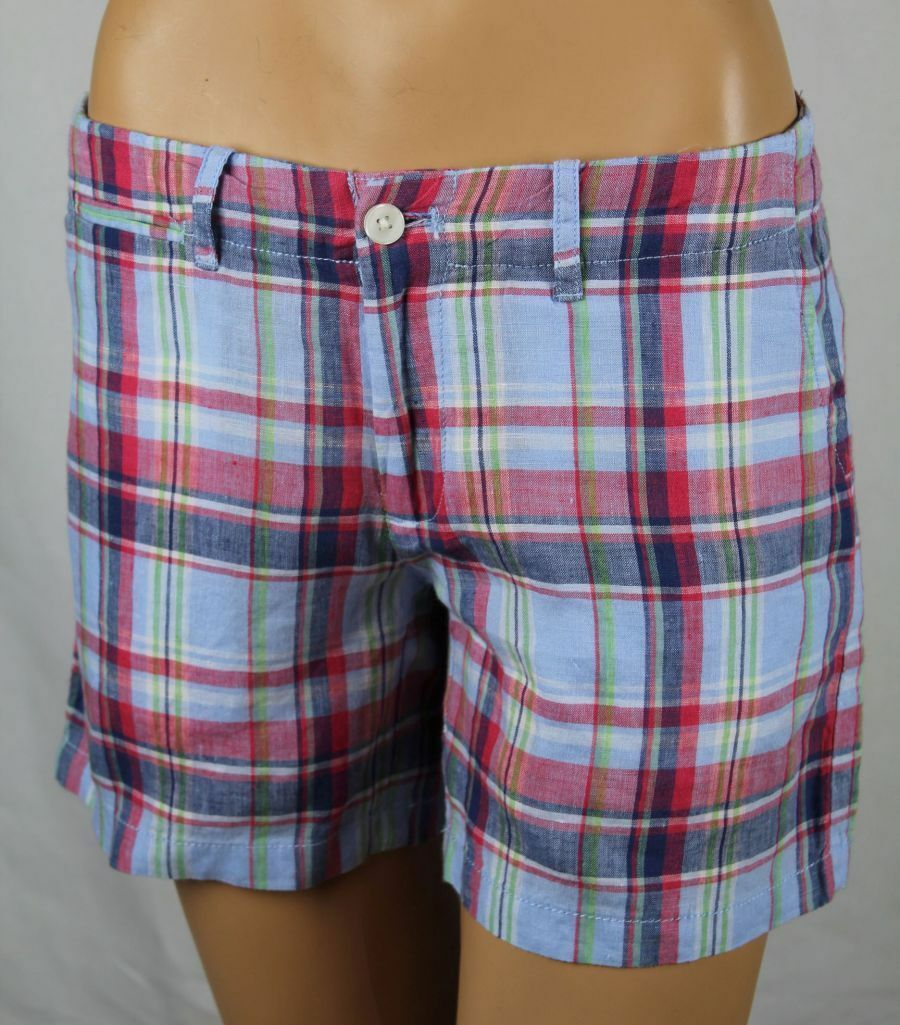 Ralph Lauren Sport bluee Red Green Plaid Shorts NWT 4