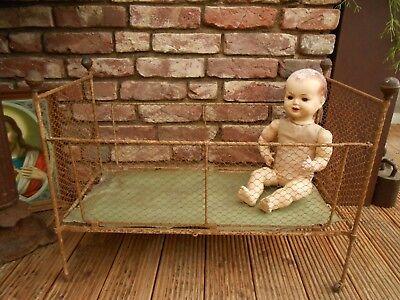 Antikes Baby Puppen Bett*eisenbett*frankreich Antik*shabby*brocante*jeanne D'arc So Effektiv Wie Eine Fee