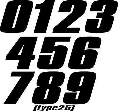 CUSTOM MOTORCYCLE NUMBER PLATE DECALS MOTOCROSS STICKERS SX CR YZ RM CR ATV BMX