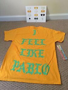 163f2f0c40 Kanye West I Feel Like Pablo Shirt Gold Philadelphia Pop Up Mens 100 ...