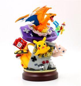 Anime-Pokemon-Charizard-pikachu-Mew-PVC-Figure-Resin-GK-Statue-Toy-New-No-Box