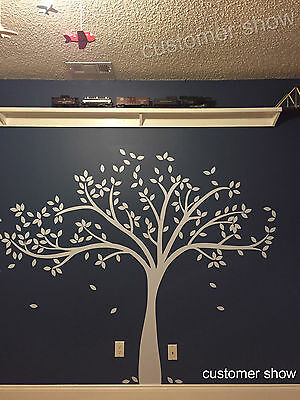White Tree Wall Decal Inspirational Baby Room Removable Vinyl Decor Vinyl Large