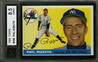 1955 TOPPS BASEBALL CARD~#189~PHIL RIZZUTO~HOF~NEW YORK YANKEES~KSA 8.5 NM-MT+