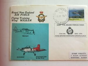 First-day-cover-1976-Royal-New-Zealand-Air-Force-Flying-training-Wigram