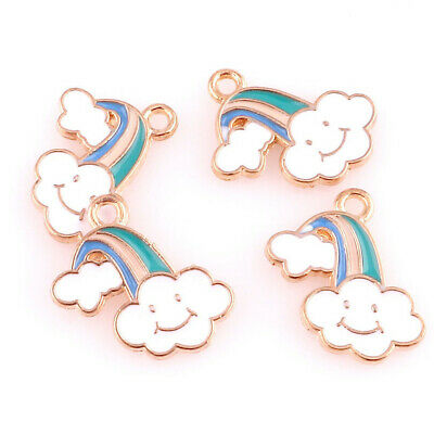 10pcs Enamel Charms Ocean Shell Charms Pendant For DIY Craft Jewelry 22990