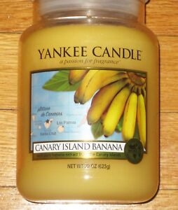 Yankee Candle 22 oz WORLD JOURNEYS CANARY ISLAND BANANA VERY RARE!!!