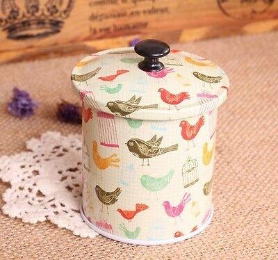 New Xmas Tree Leopard Santa Bird Candy Coffee Tea Can Container Jar Tin Metal