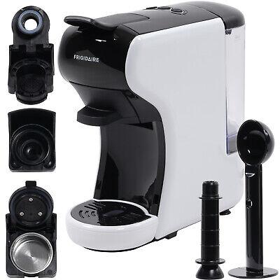 White FRIGIDAIRE ECMN103-WHITE Multi Capsule Compatible Coffee Maker for Nespresso Dolce Gusto and Grounds Renewed