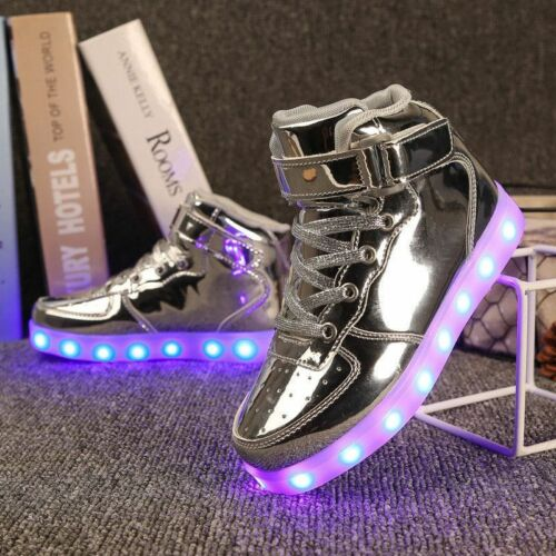 Boys Girls Glowing Sneakers Fashion Luminous Lighted LED Children With Light Up