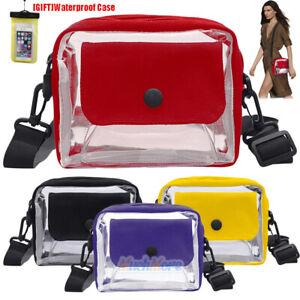 Women-Clear-Bag-Transparent-PVC-Beach-Causal-Crossbody-Handbag-Shopper-Handy-USA