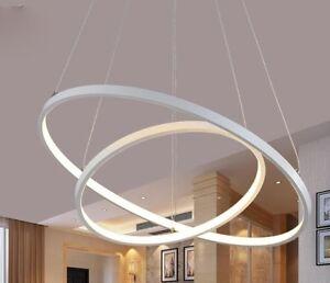 LAMPARA COLGANTE AROS LED (RING) - ALUMINIO BLANCO