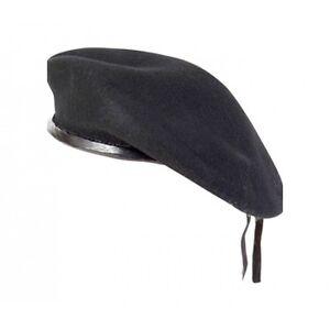 New-WOOL-Mens-Ladies-Black-Beret-Hat-Cap-Army-Military-Fashion-or-Fancy-Dress