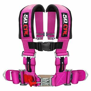 "4 Point Pink Safety Race Racing Seat Belt Harness 2"" for Kawasaki Teryx LE 750"