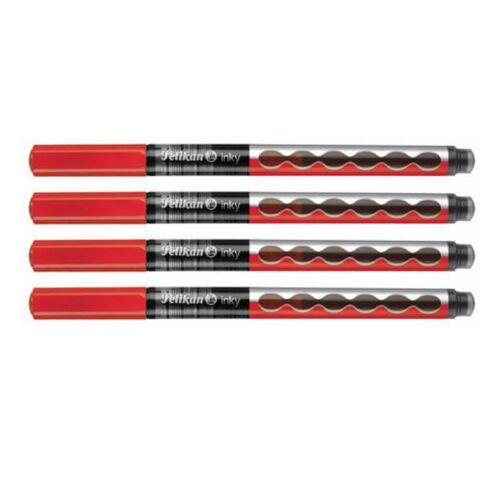 4er Set grün 4 x Tintenschreiber Pelikan Inky 273 0,5 mm blau schwarz rot