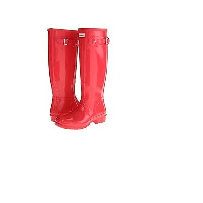 Authentic Hunter Original Tall Wellington Gloss Boots WFT1000RGLWelly B.Coral
