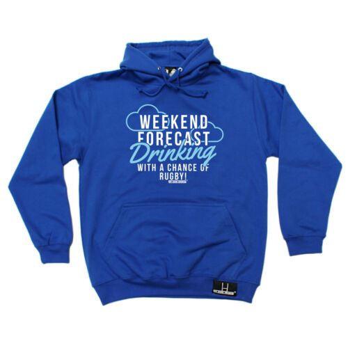 Weekend Forecast Drinking A Chance Of Rugby HOODIE Present birthday fashion gift