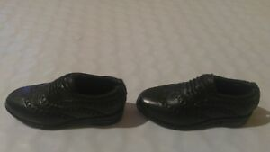 NEW  Ken Doll Black DRESS SHOES WITH LACES AND DESIGNS FOR KEN FITS SILKSTONES
