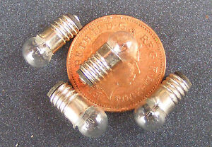 1:12 Scale Pack Of 4 x 12v Pea Bulbs Dolls House Miniature Lighting 24
