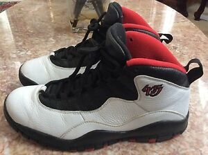 wholesale dealer 5e122 be80e Details about Nike Air Jordan Retro 10 X Double Nickel White/Red/Black Size  10 310805-102 EUC