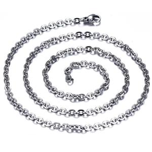 Feine-Edelstahl-Kette-Halskette-Edelstahlkette-Ankerkette-45-cm-2-mm-stark