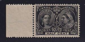 Canada-Sc-50-1897-1-2c-black-Diamond-Jubilee-Mint-VF-H
