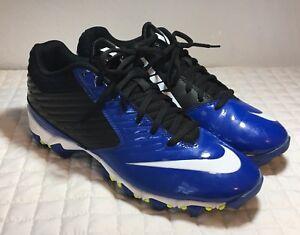 729224d6be6f Nike Vapor Shark black white Blue Football Cleats Big Boys Mens Sz ...