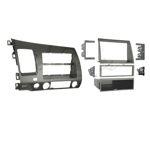 CT23HD05L HONDA CIVIC 2006 to 2010 TAUPE DOUBLE DIN FACIA ADAPTER HYBRID MODEL