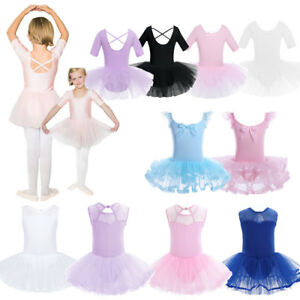 Girl-Kid-Tutu-Ballet-Leotard-Dance-Dress-Ballerina-Dancewear-Cutout-Costume