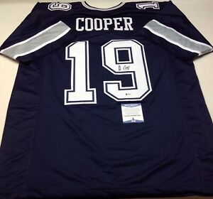 check out 54317 310b9 Details about DALLAS COWBOYS AMARI COOPER SIGNED BLUE CUSTOM JERSEY  W/BECKETT COA!!