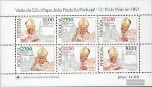 Portugal-Bloque-36-edicion-completa-nuevo-1982-Visita-del-Papa