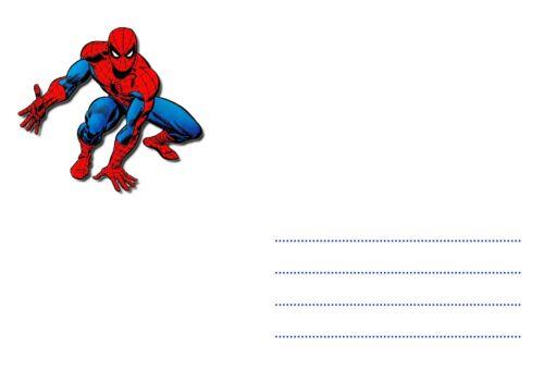 5 ou 12 cartes invitation anniversaire SPIDERMAN réf 284