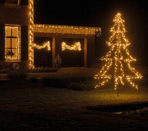 LED-Baum-1-35-3-m-Tanne-Lichterkette-240-1800-LED-s-IP44-inkl-Timer-Dimmer