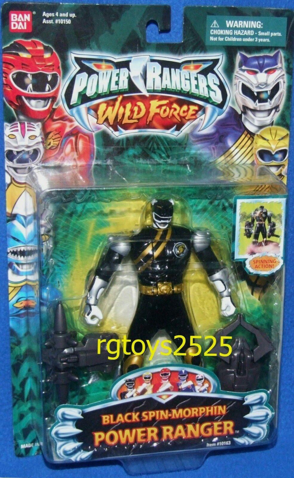 Power Rangers Wild Force Noir Spin-Morphin 5  Ranger NEW FACTORY SEALED 2002