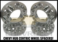 4x Chevy Truck Hub Centric 6x5.5 Wheel Spacers 1 Inch Thick   14x1.5 Studs 25mm