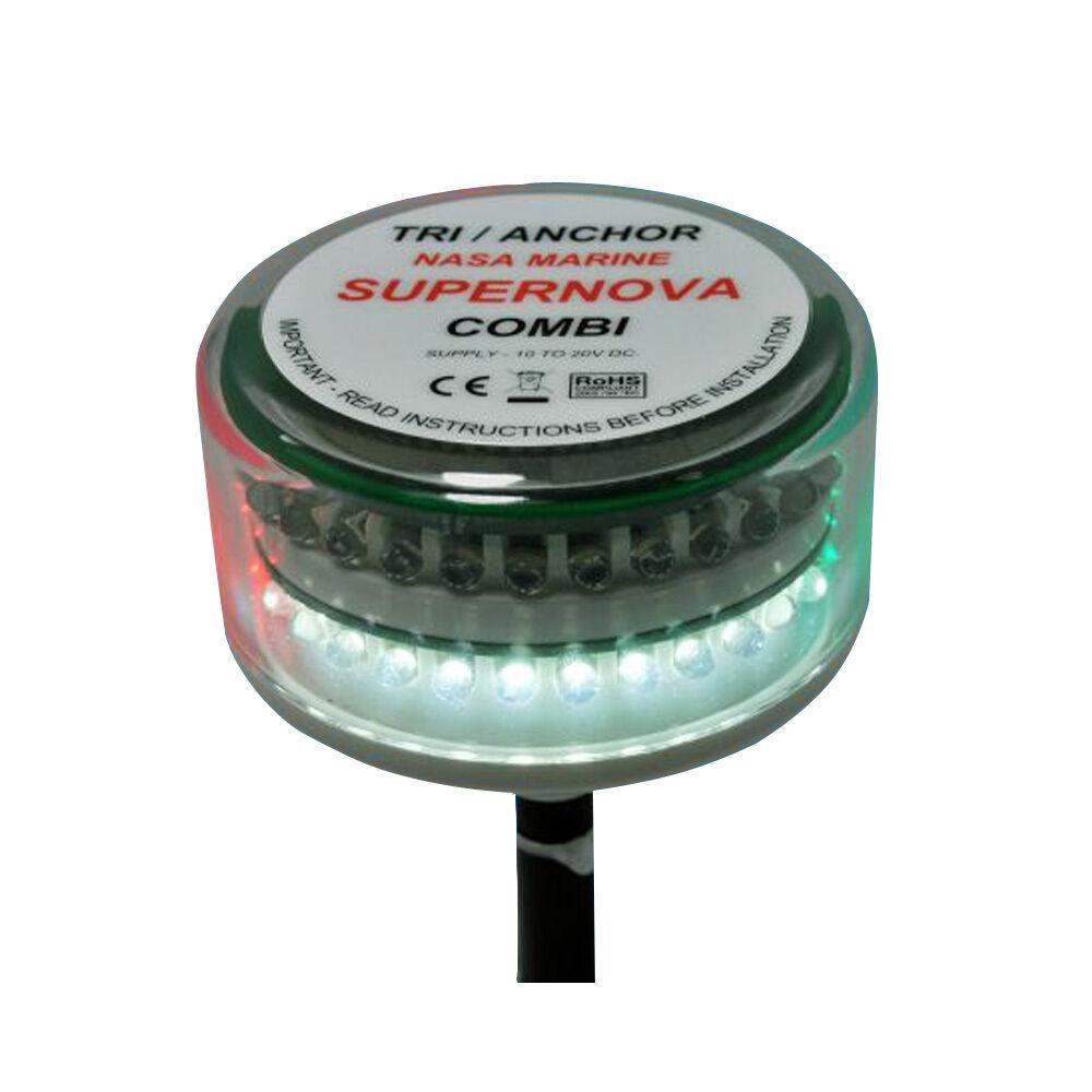 Clipper Supernova Combi LED Tricolor Masthead Anchor Light model CL-CTC