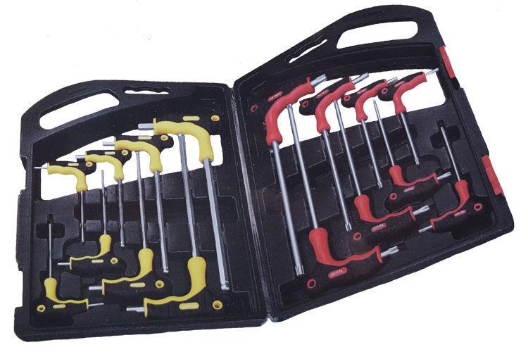 10x Torx Stift Stift Stift und Stern Schlüsselsatz 16 teilig m. Griff und Koffer Werkzeug 6c2549