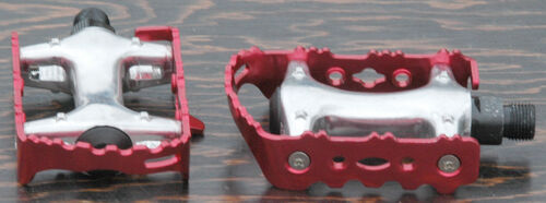 """Red Alloy FiXiE Road Bike Pedals 9//16/"""" Vintage Fixed Gear Track Cruiser Bicycle"""