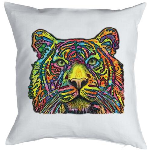 Tigre//lion Coussin-drôle de chats sauvages Motif Coussin Chats intime