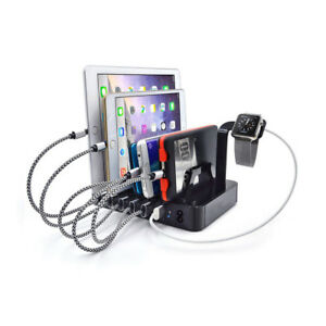 6-Ports-USB-3-0-8-8Amp-50W-Fast-Charging-Dock-Station-For-iPhone-7-8-iPad-iWatch