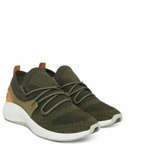 Timberland-A1O9N-FlyRoam-Go-Knit-Mens-Canvas-Low-Sneakers-Dark-Green-Size