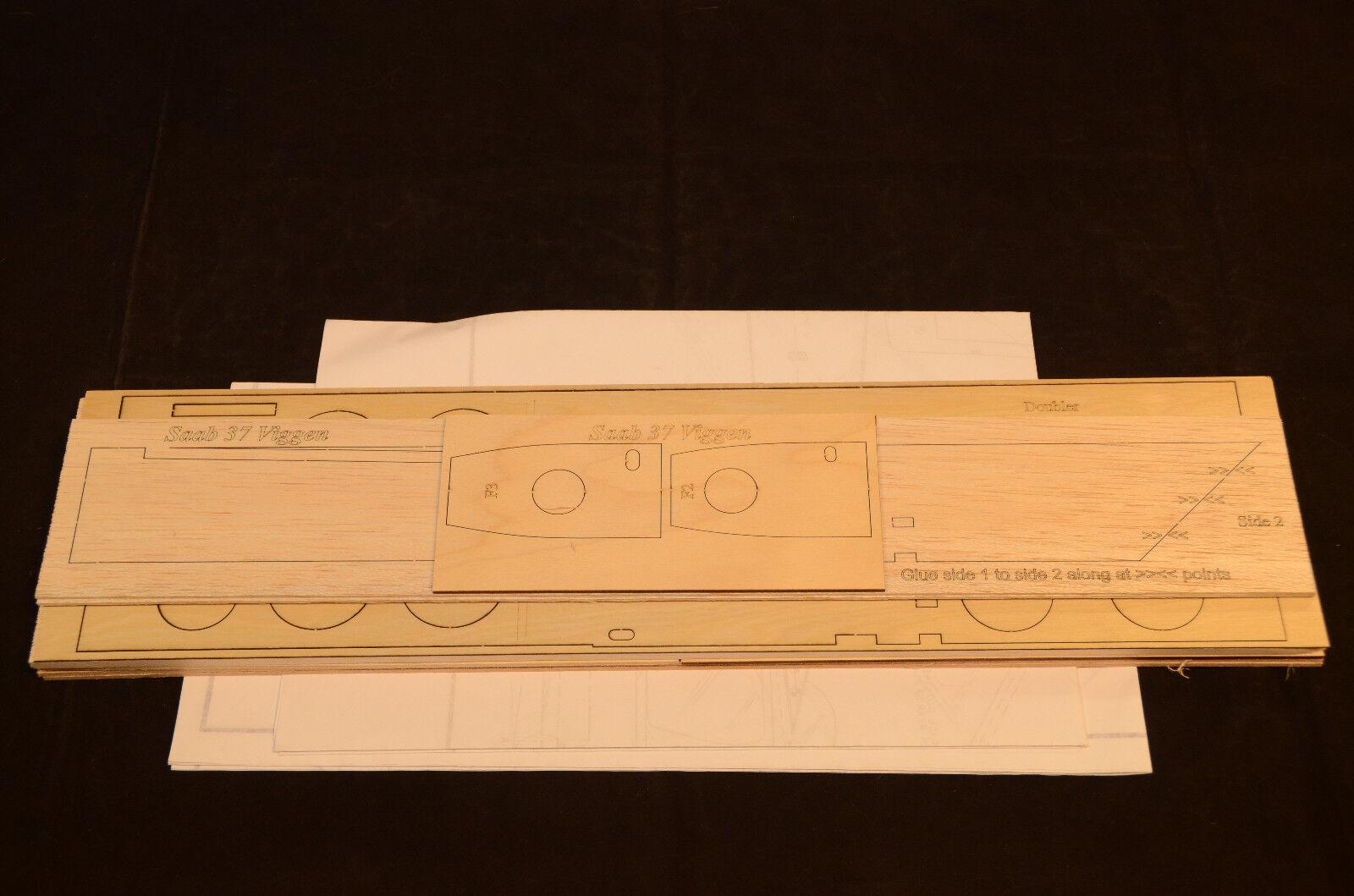 Semi Maßstab Saab 37 Viggen Laserschnitt Short Set & Plans 32   Ws,ABlauft Lüfter    Online Kaufen
