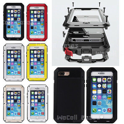 New Shockproof Aluminum Glass Metal Case Cover for Apple iPhone 7 and 7 Plus