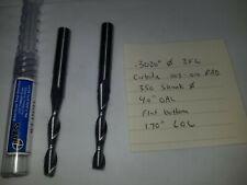 Carbide Endmill 302 Diameter 2fl 4 Oal Nob Lot Of 2 Pcs