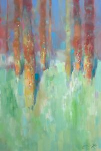 Marble Forest, Original Oil painting, Handmade artwork, One of a kind