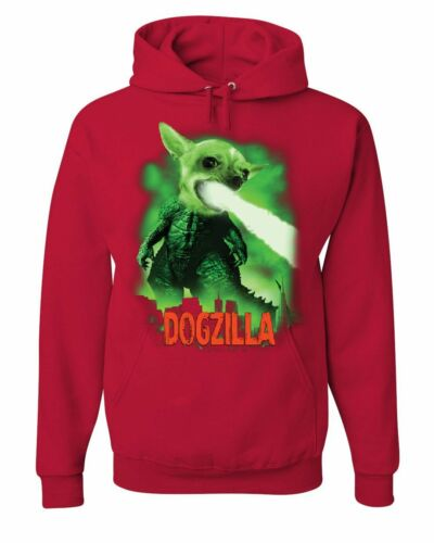 Dogzilla Funny Hoodie Movie Parody Dog Pet Lovers Atomic Breath Sweatshirt