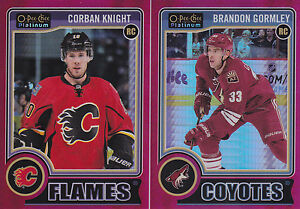 14-15-OPC-Platinum-Brandon-Gormley-135-Rookie-Red-Prism-RC-O-Pee-Chee-2014