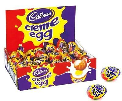 CADBURY CREME EGG MILK CHOCOLATE EGGS FULL SEALED BOX GIFT FAVOURS (OUT OF DATE)