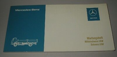 Gastfreundlich Wartungsheft Inspektionsheft Mercedes Mittelschwere + Schwere Lkw Stand 07/1976 Aromatischer Geschmack