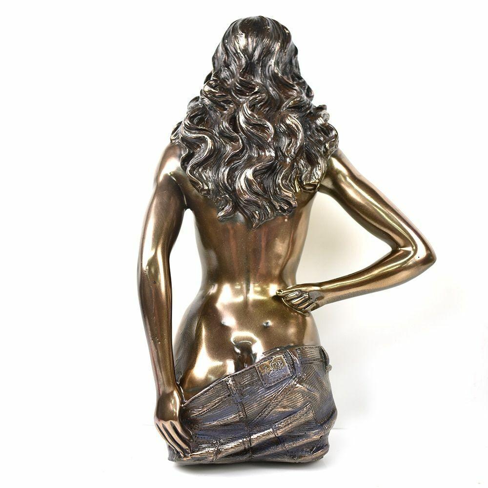 Damen Skulptur Bronze Statue Buchse Nackter Passion Romantische Wandbehang