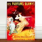 "Vintage French Perfum Poster Art CANVAS PRINT 16x12"" Parfums Blamys"